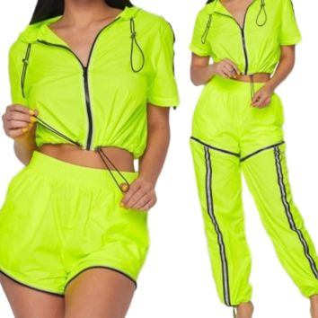 Play Two Ways Reflective Convertible Zip-Off Jogger Set