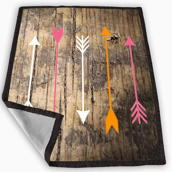 WOOD ARROWS Blanket for Kids Blanket, Fleece Blanket Cute and Awesome Blanket for your bedding, Blanket fleece *