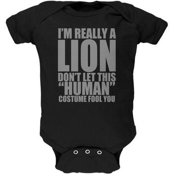 DCCKJY1 Halloween Human Lion Costume Black Soft Baby One Piece