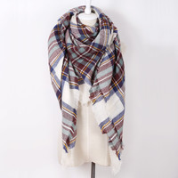 Brand new woman Acrylic  plaid warm Winter Scarf  Shawls Plus size Blanket Scarf For Women