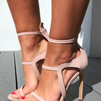 Without A Flaw Heels: Blushed Nude