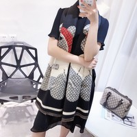 Perfect Supreme LV Women Fashion Accessories Sunscreen Cape Scarves Silk Scarf Supreme LV shawl q_1689347108