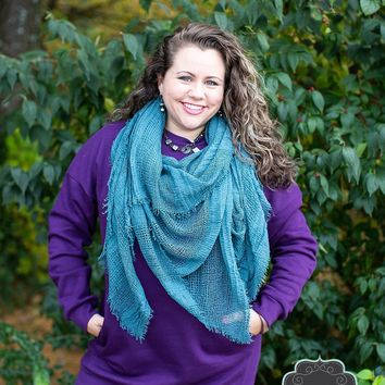 Dark Purple Sweatshirt Tunic
