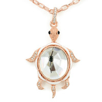 Rose Gold Turtle Pendant Necklace