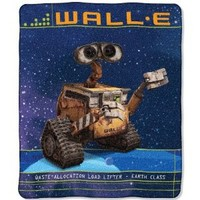 Northwest Company 50-Inch by 60-Inch Micro Raschel Throw, Wall-E Design