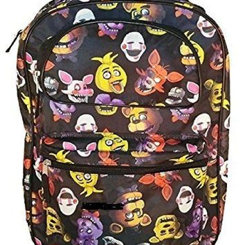Five Nights at Freddy's Characters 16in Allover Print Backpack Bookbag