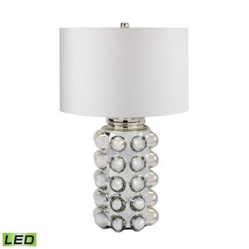 Bubble Glass LED Table Lamp in Silver Mercury Silver Mercury