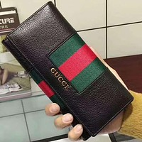 Gucci women's stylish leather two fold leather wallet F-MYJSY-BB black