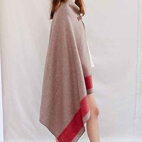The Local Branch Nomad Blanket Open-Front Poncho-