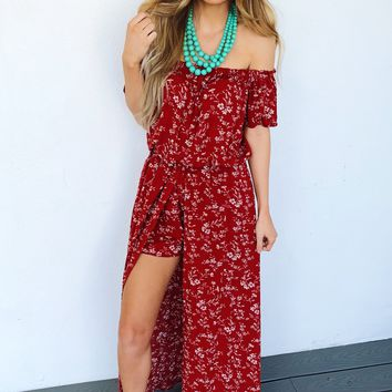 Moving and Groovin' Romper: Rust/Ivory