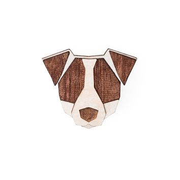 Wooden Jack Russell Pin