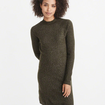 Womens Button-Back Sweater Dress | Womens Dresses & Jumpsuits | Abercrombie.com