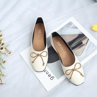 Butterfly Knot Slip On Soft Casual Flat Loafers For Women