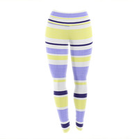 "Alison Coxon ""Jack Tar"" Purple Yellow Yoga Leggings"