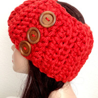 READY TO SHIP. Crochet Ear Warmer/ Headband. Girls/ Women's Crochet Winter Accessory