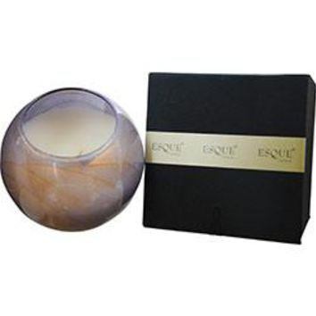The Inside Of This 4 In Polished Globe Is Painted With Wax To Create Swirls Of Gold And Rich Hues And Comes In A Satin Covered Gift Box. Candle Is Filled With A Translucent Wax And Scented With Mysteria. Burns Approx. 50 Hrs