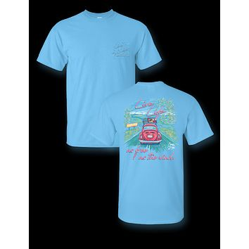 Sassy Frass Live Life Free as the Wind Bug Car Comfort Colors Bright Girlie T Shirt