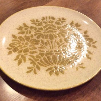 """Vintage Red Wing """"Damask"""" Green USA VTG EUC Replacement Dinner Plate"""