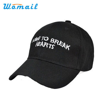 Newly Design I CAME TO BREAK HEARTS Embroidery Letter Boy Hiphop Hat Adjustable Baseball Cap 160513 Drop Shipping