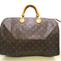 Auth LOUIS VUITTON Speedy 40 M41522 Monogram Canvas SP1904 Handbag