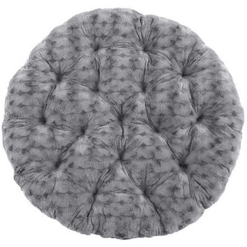 Fuzzy Charcoal Papasan Cushion