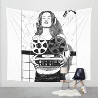 asc 520 - La scéance privée (She sings for me only) Wall Tapestry by From Apollonia With Love | Society6