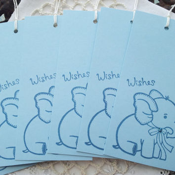 Baby Shower Wish Tags Elephant Set of 25