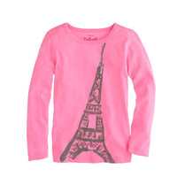 Girls' long-sleeve Eiffel Tower tee - knits & tees - Girl's new arrivals - J.Crew