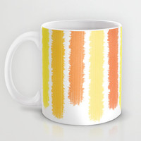 Orange and Yellow - Coffee Mug -  Mug - Stripes Orange and Yellow - Ceramic Mug - 11oz - 15oz - Made to Order