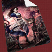 Alice in Wonderland evil for Kids Blanket, Fleece Blanket Cute and Awesome Blanket for your bedding, Blanket fleece*NS*
