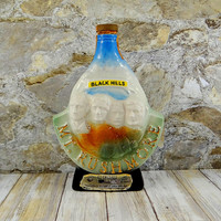 Vintage Jim Beam Whiskey Decanter, Mount Rushmore, Black Hills, 1969