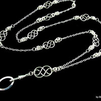 Celtic Knot and Byzantine Lanyard Necklace