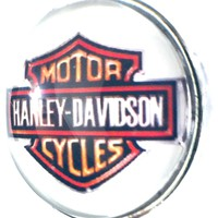 Harley Davidson Motorcycle Biker Babe 18MM - 20MM Snap Charm for Snap Jewelry