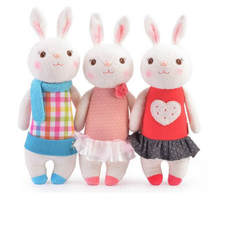 35cm Genuine Metoo Toys Tiramisu Rabbits  Cute Rabbits Stuffed Animals Prefect Gifts For Girls And Children