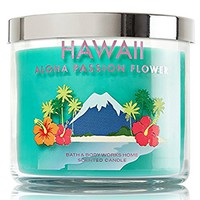 Bath & Body Works Scented 3 Wick Candle 14.5 Oz HAWAII ALOHA PASSION FLOWER