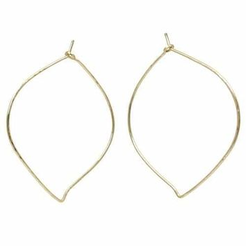 Hoop Earrings - Small Leaf - Gold