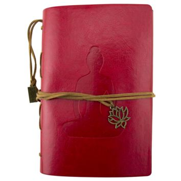 Buddha Red Leather Journal Planner Organizer