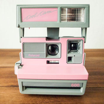 TESTED Polaroid Cool Cam 600, Pink Polaroid Camera, Vintage Polaroid, Instant Camera, Working Polaroid, Gray Polaroid, Pink Camera, Pink