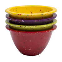 Confetti 4-piece Prep Bowl Set - Assorted Red