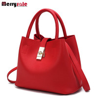 Women bag women leather handbags Messenger bag  style simple buckets