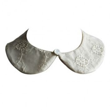 Retro Cotton Lace Detachable Round Collar