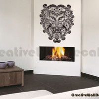 Vinyl Wall Decal Sticker Pattern Lion Head King of Animals Bedroom Dorm r1705