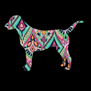 Lilly Pulitzer ~ Black Dog Inspired decal for your car! Pick your pattern!