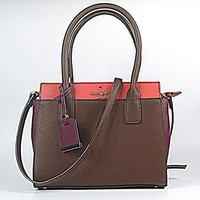Hot Sale Kate Spade Fashion Shopping Leather Tote Handbag Shoulder Bag Color Wine Red & Red