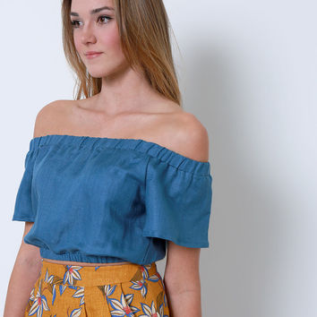 Beautiful One Crop Top - Teal