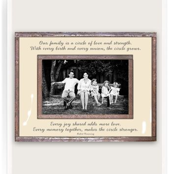 Our Family Is A Circle Copper & Glass Photo Frame