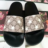 GUCCI Fashion New More Letter Star Print Shoes Flip Flop Slippers