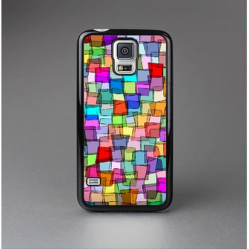 The Vibrant Colored Abstract Cubes Skin-Sert Case for the Samsung Galaxy S5