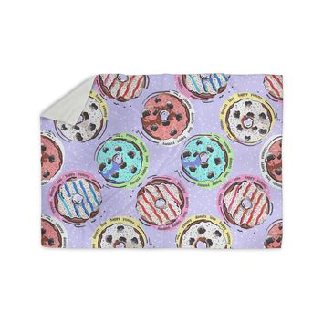 "Mukta Lata Barua ""Donut Love"" Multicolor Pastel Pattern Love Digital Illustration Sherpa Blanket"
