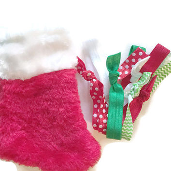 Christmas Hairbands Stocking - Hair Accessories Christmas Gift - Girl's Christmas Headband Gift Set - Great Secret Santa Gift For Her, Teens